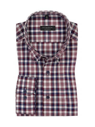 Shirt with check pattern, Comfort Fit v RED