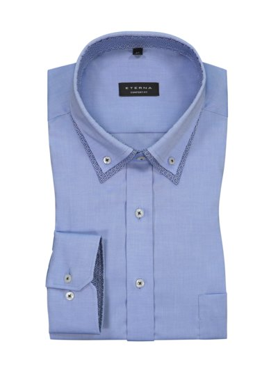 Shirt with double button-down collar v LIGHT BLUE