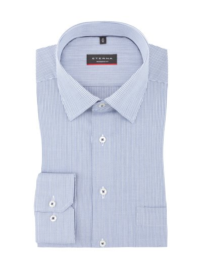 Business shirt with micro check pattern, extra long sleeves v BLUE