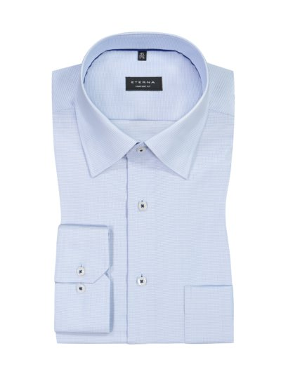 Formal shirt with micro pattern and breast pocket v LIGHT BLUE