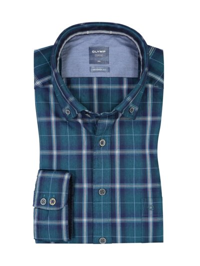 Casual modern fit shirt with breast pocket v BLUE