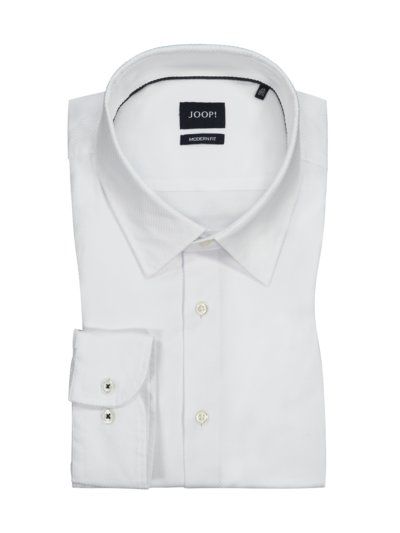 Shirt with micro texture, Modern Fit v WHITE