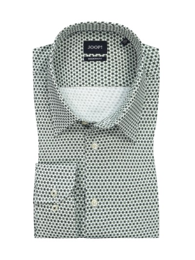 Shirt with micro pattern, Modern Fit v GREEN