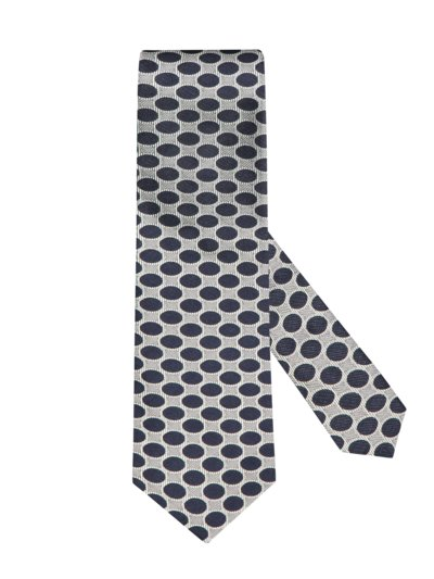 Tie with dotted pattern v BLUE