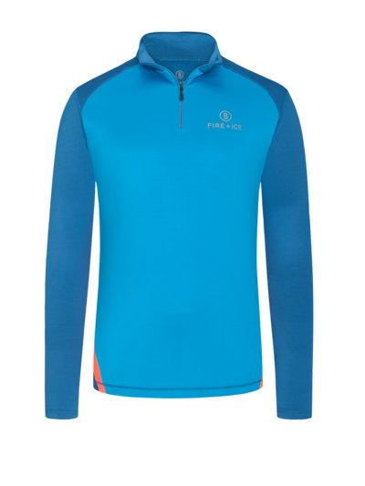 Fire & Ice sporty sweatshirt with stretch content v TURQUOISE*