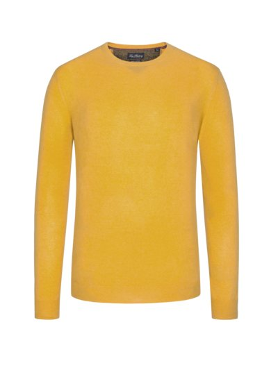 Sweater, round neck, in a merino-cashmere blend v YELLOW