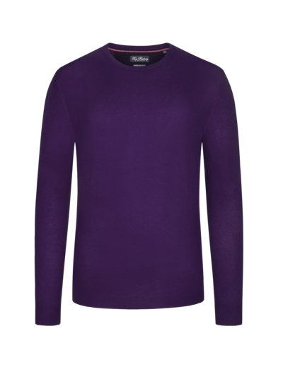 Sweater, round neck, in a merino-cashmere blend v LAVENDER