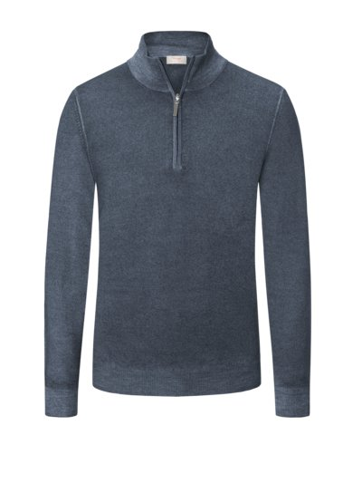Elegant troyer in virgin merino wool v GREY