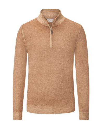 Eleganter Troyer in Merino-Schurwolle in BEIGE