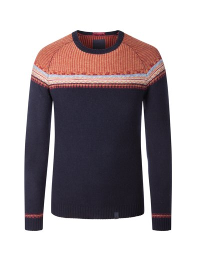 Wool blend sweater v MARINE