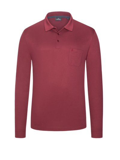 Sweatshirt with polo neck collar and breast pocket v BORDEAUX