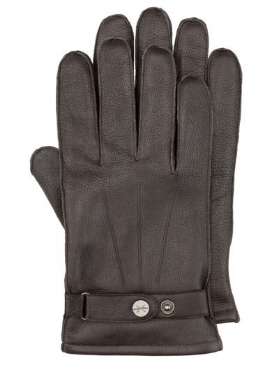Premium quality leather gloves v BROWN