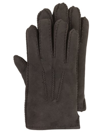 High-quality lambskin gloves v DARK BROWN