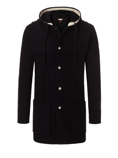 Unlined duffel coat, made of 100% merino wool v MARINE