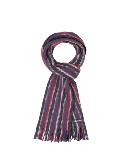 Striped wool scarf v RED