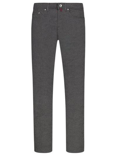 Cotton jeans with micro pattern, Voyage v ANTHRACITE