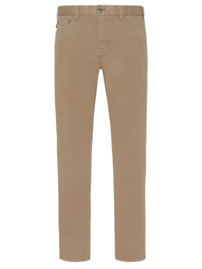 Comfortable cotton jeans with stretch content v BEIGE