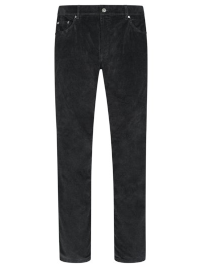 Corduroy trousers with stretch content, Cooper Fancy v BLACK