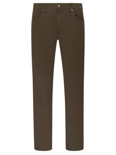 Hi-Flex 5-pocket pants with micro texture, Chuck v GREEN