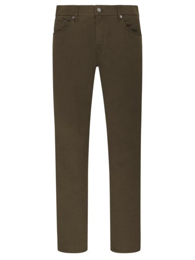 Hi-Flex 5-pocket pants with micro texture, Chuck v BROWN