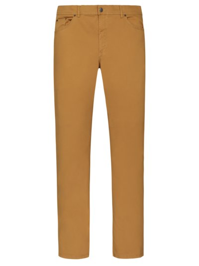 Five-pocket pants with stretch content v YELLOW