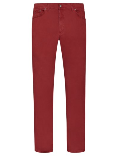 Five-pocket pants with stretch content v RED