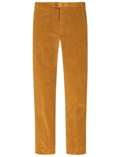 Klassische Chino in Feincord in ORANGE