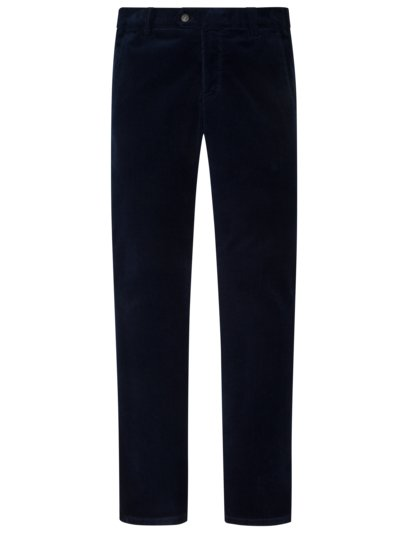 Comfortable fine corduroy pants with stretch content v MARINE