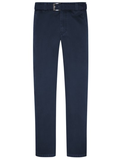 Stylish chinos with a minimalistic pattern and practical belt, Palermo v MARINE
