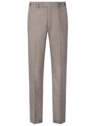 Chinos with suspenders with a pepita pattern v BROWN