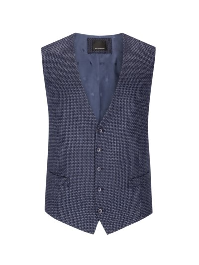 Vest with micro pattern v MARINE