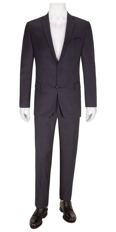 Business suit with micro check pattern v BLUE