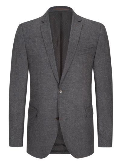 Blazer with micro pattern v ANTHRACITE