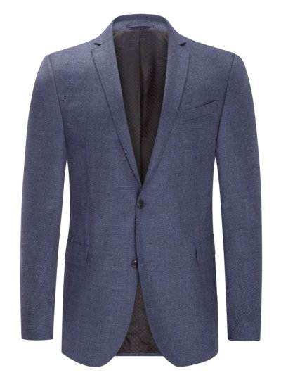 Blazer with elegant micro texture and cashmere content v BLUE