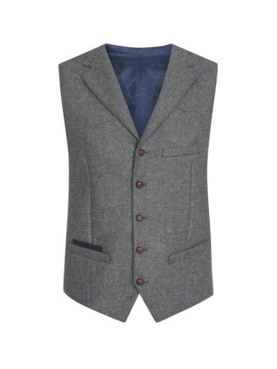 Vest with lapel collar v GREY