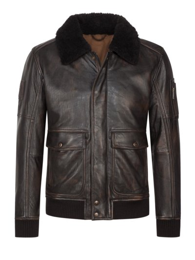 Aviator blouson, S.C. Swindon v DARK BROWN