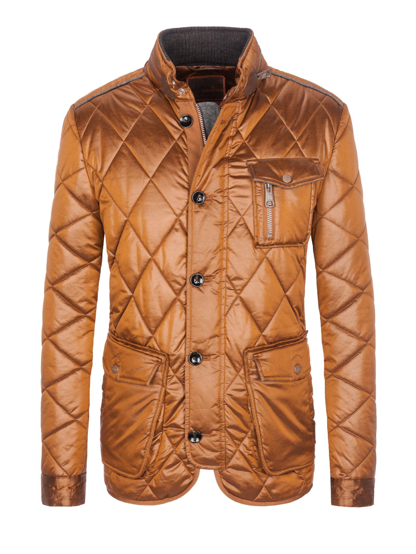 Handstich modische Winterjacke petrol   Jacken, Winterjacken