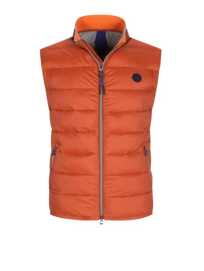 Gilet with quilted pattern v ORANGE