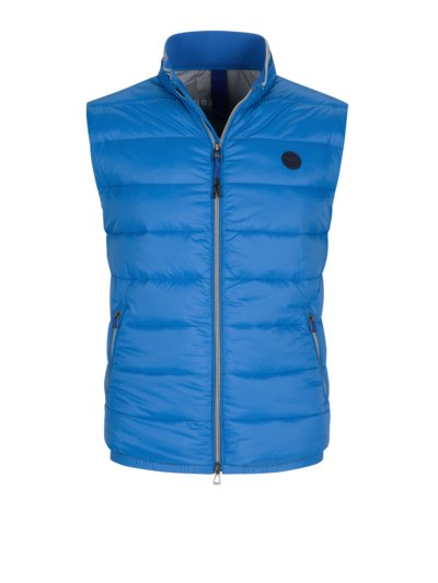 Gilet with quilted pattern v LIGHT BLUE