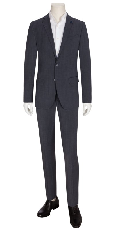 Suit with performance technology, stretch v GREY