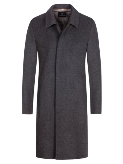 Wool coat with cashmere content v ANTHRACITE