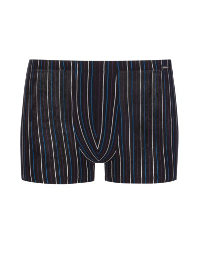 Boxer trunks with striped pattern v MARINE