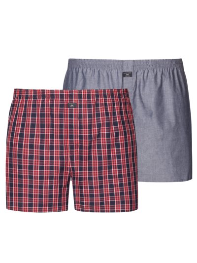 Boxer-Shorts im Doppelpack in ROT