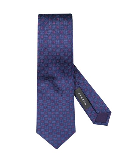 Silk tie with an elegant pattern v MARINE