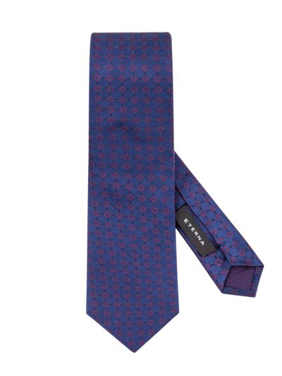 Tie with geometric pattern v AUBERGINE