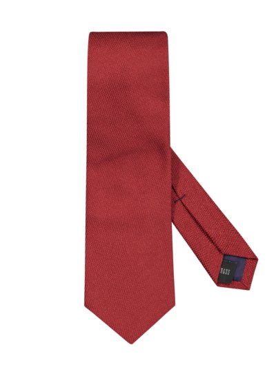 Silk tie with an elegant rice-grain look v BORDEAUX