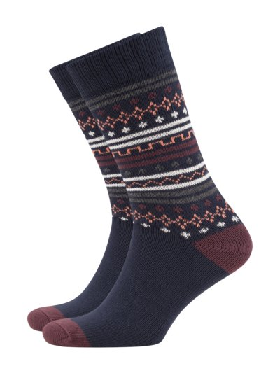 Socks made of a cotton blend v MARINE