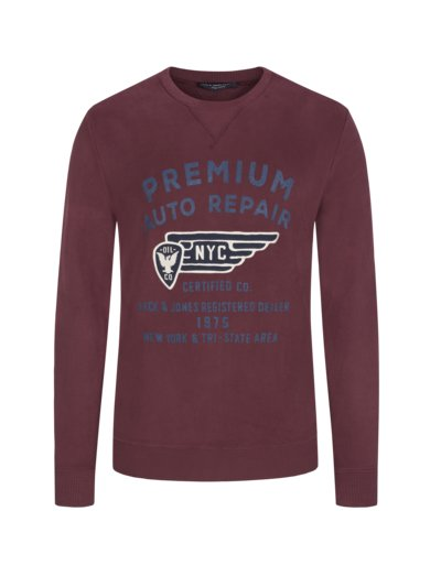 Sweatshirt with logo lettering v BORDEAUX
