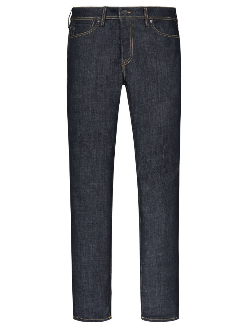 Jack & Jones Denim-Jeans mit Kontraststickerei, Tim, Slim Straight MARINE in Übergröße