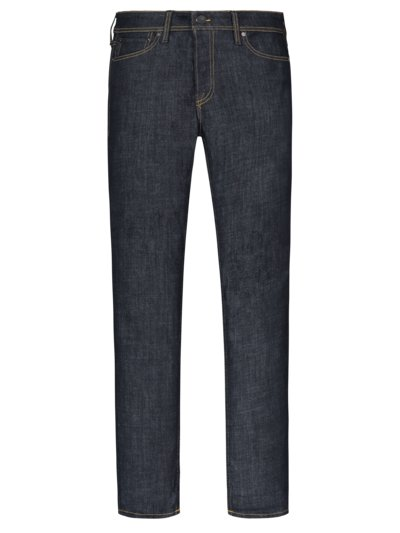 Denim jeans with contrast embroidery, Tim, Slim Straight v MARINE